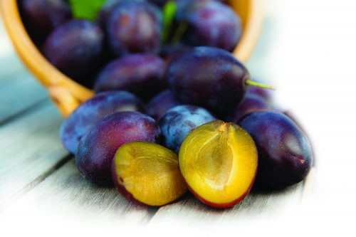 In season December: Yellow-fleshed plums