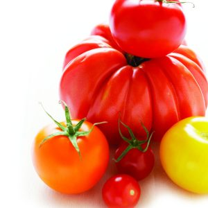 In season mid-summer: Tomatoes