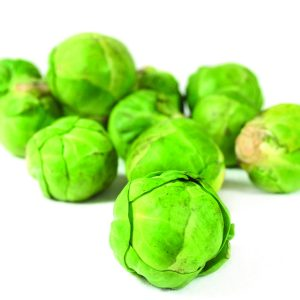 In season late autumn: Brussels sprouts