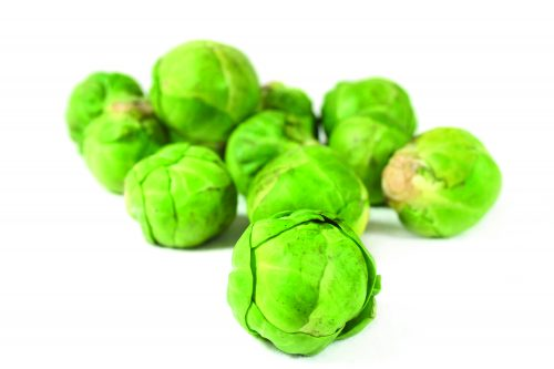 In season May: Brussels sprouts