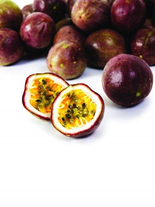 In season late autumn: Passionfruit