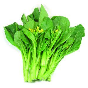 In season mid-spring: Choy sum