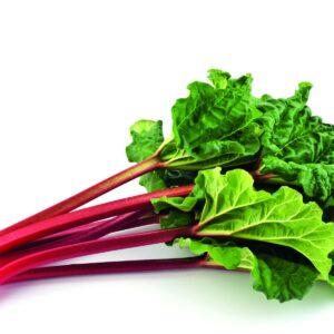 In season early spring: Rhubarb
