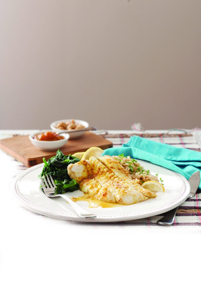 Indian-spiced fish with nutty rice