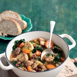 Italian-style chicken and borlotti bean stew