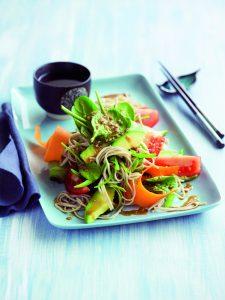Japanese soba noodle and sesame salad