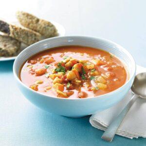 Kumara and chickpea soup