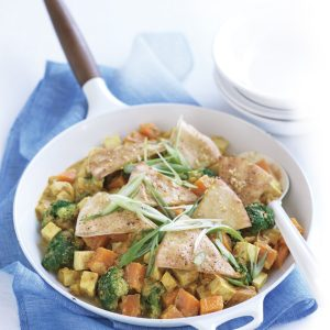 Kumara, broccoli and tofu curry