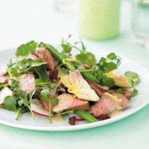 Lamb and artichoke salad