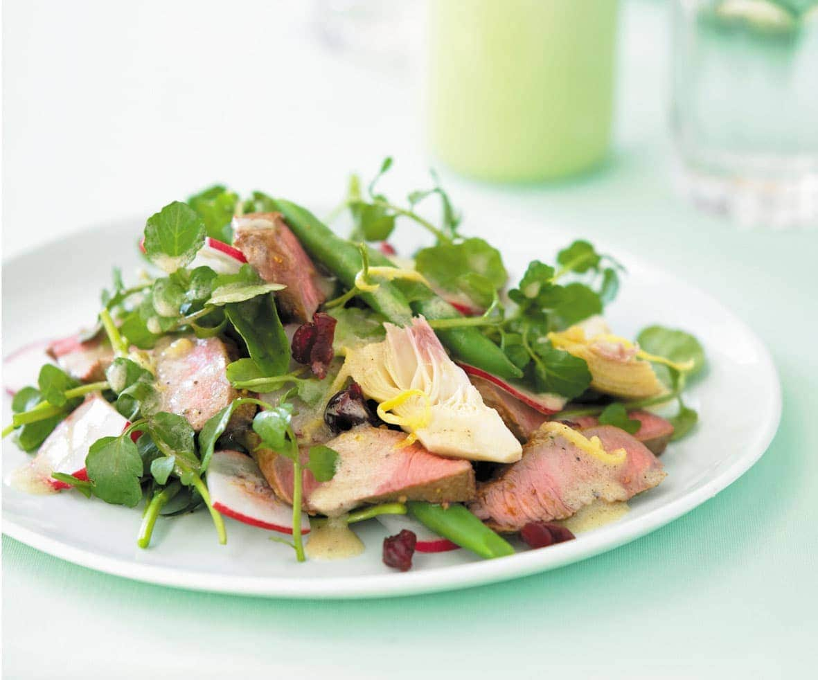 Lamb and artichoke salad