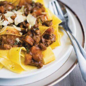 Lamb ragù for pasta