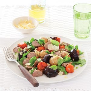 Lamb, watercress and beetroot salad