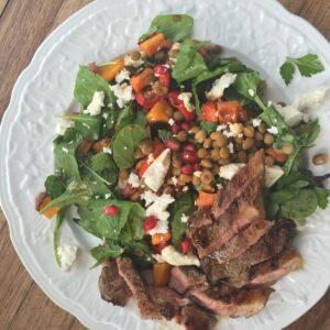Lamb and rocket salad