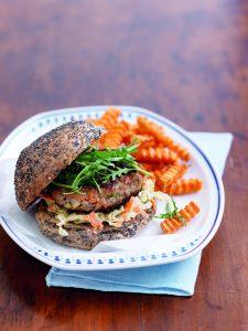 Lamb and tzatziki burger