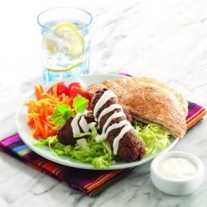 Lamb kofta in pita pockets