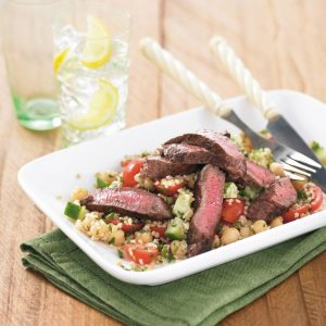 Lamb with chickpea tabouli