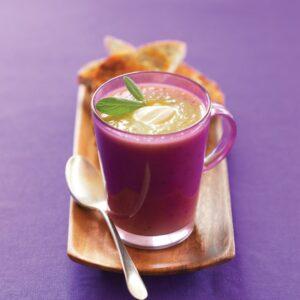 Leek, potato and sage soup