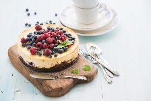 Lemon and vanilla cheesecake
