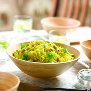 Lemon and cashew rice