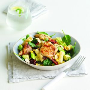 Lemongrass chicken pasta salad
