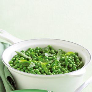 Lemony peas with mint
