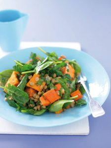 Lentil cashew salad
