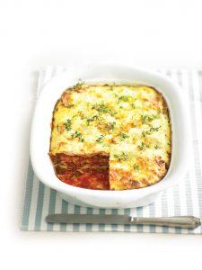 Lentil, mushroom and ricotta lasagne