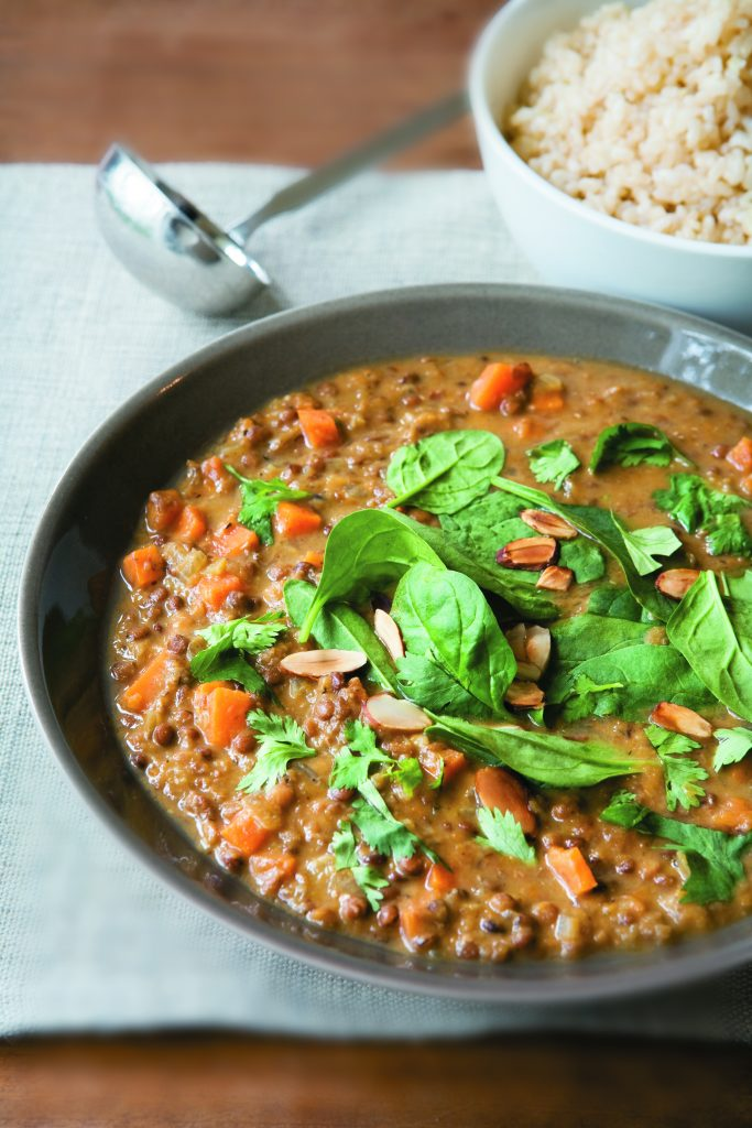 Lentil and ginger stew