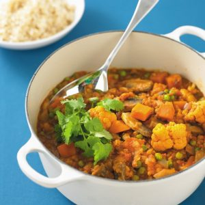 Lentil and vegetable curry