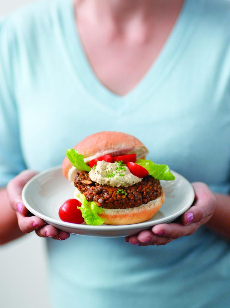 Lentil burger patties