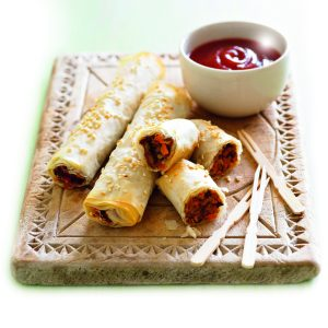 Lentil 'sausage' rolls