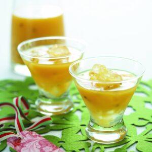 Mango passionfruit mocktail