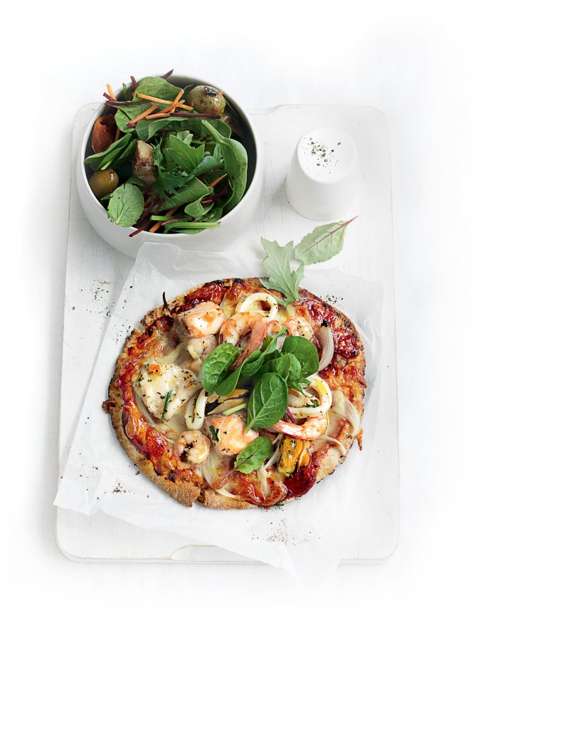 Marinara pita pizza