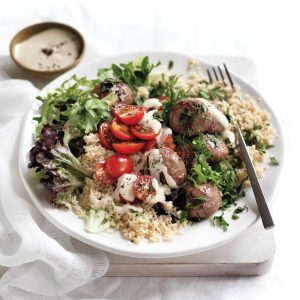 Meatball couscous salad