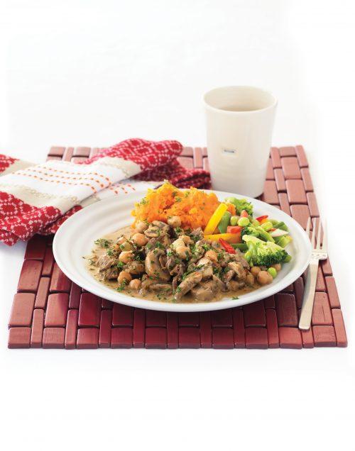 Mediterranean beef stroganoff