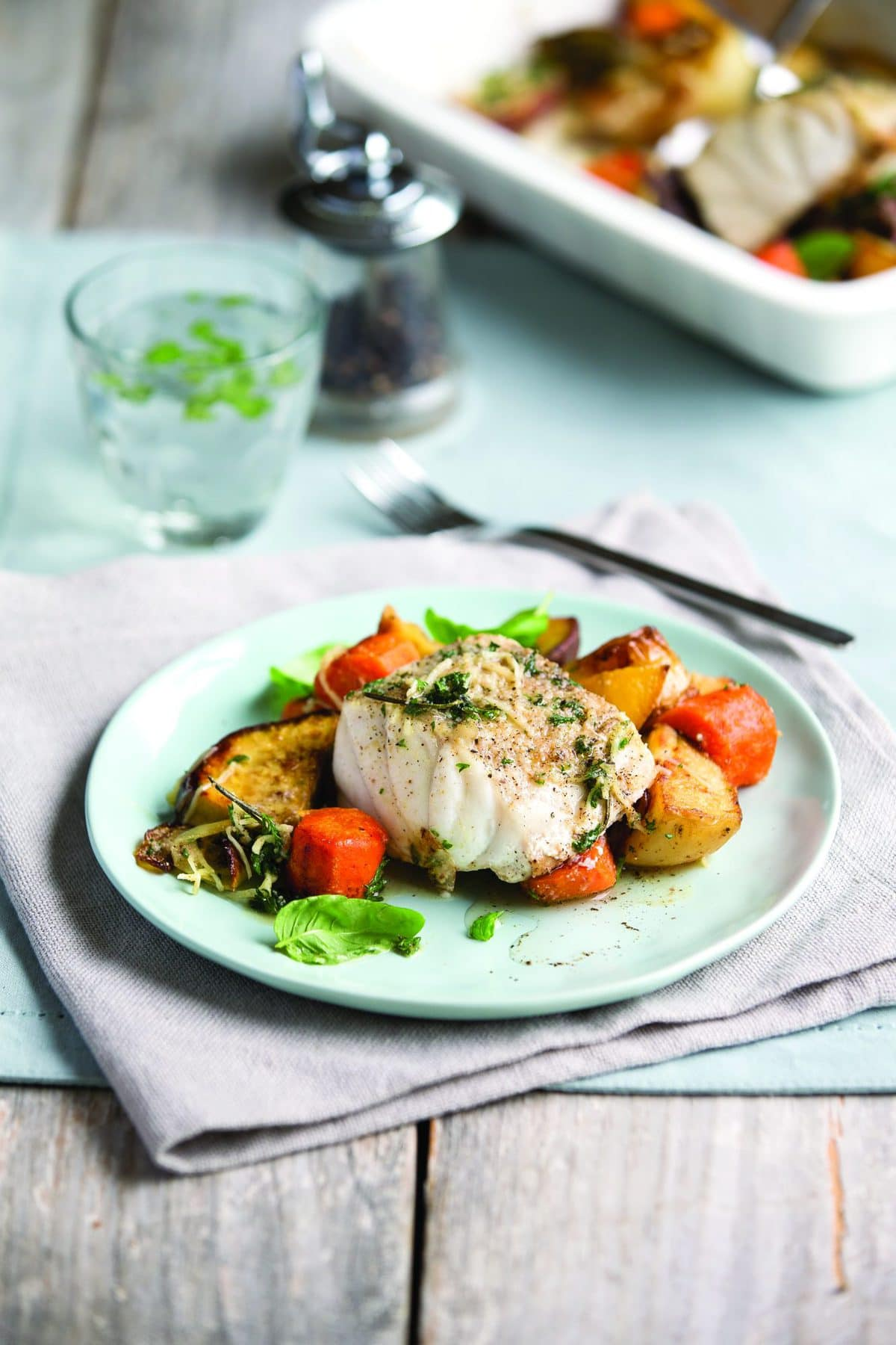 Mediterranean fish roast