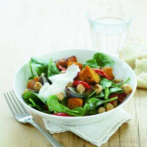 Mediterranean roast vegetable and chickpea salad