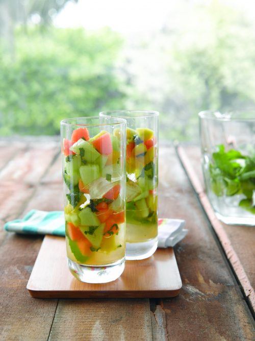 Melon, mint and ginger cooler