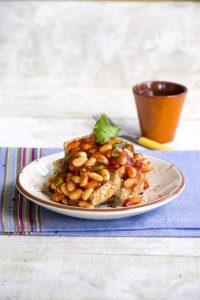 Mexican-style homemade baked beans