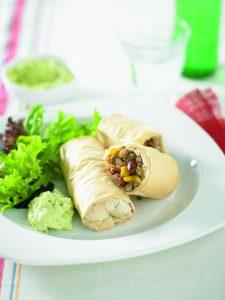 Mexican chicken rolls
