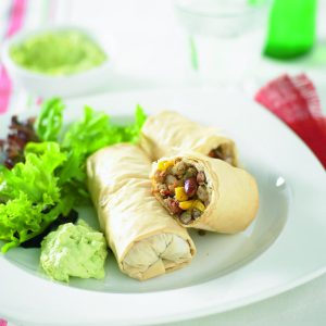 Mexican chicken rolls