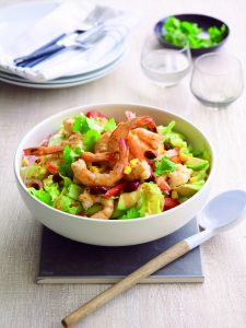 Mexican-style prawn and avocado salad