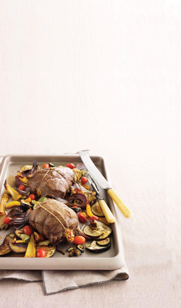 Mini lamb roast with Mediterranean veges