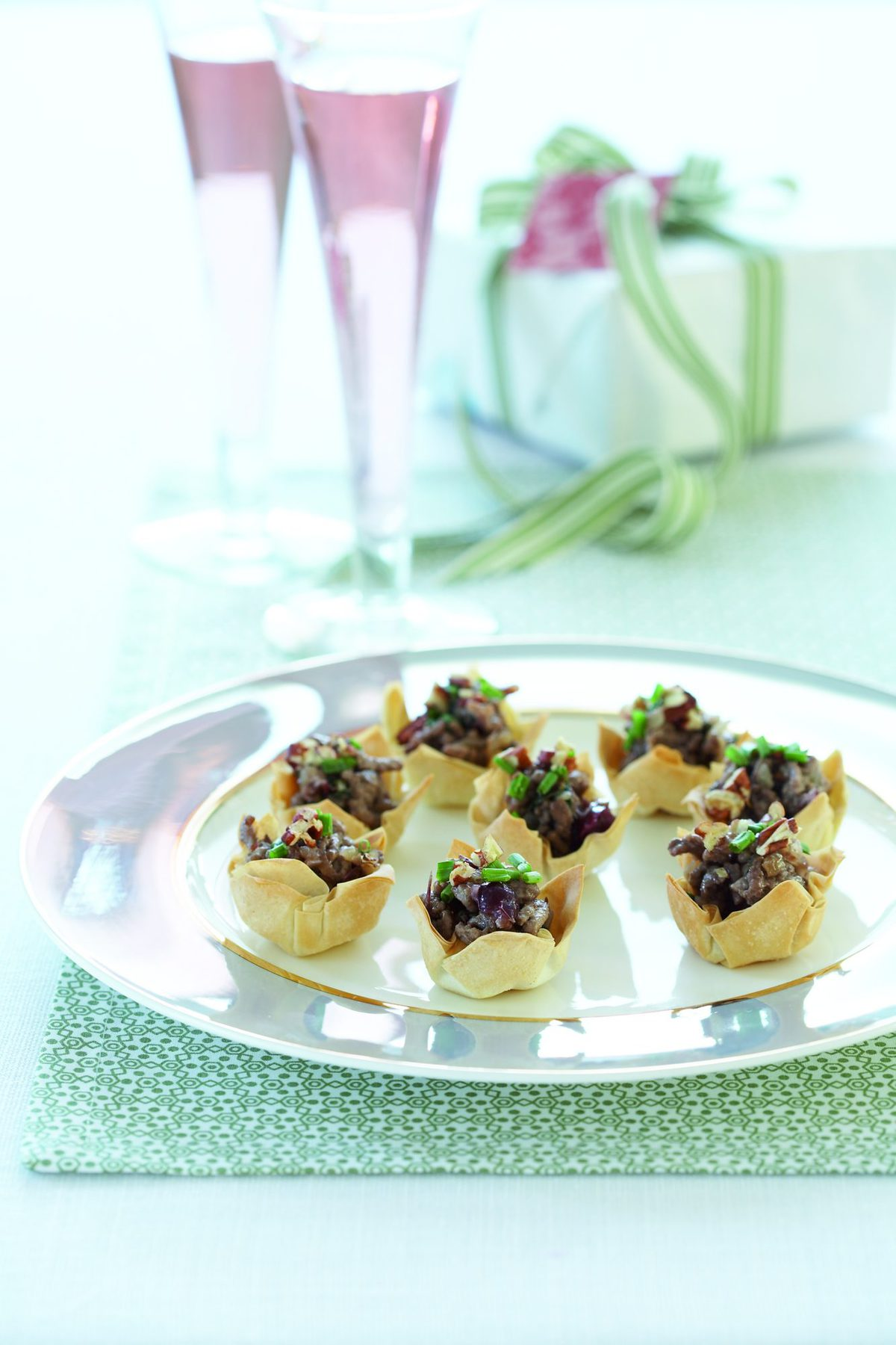Mini chicken and cranberry pies