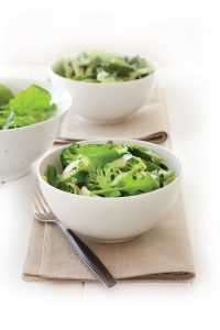 Minty tossed greens