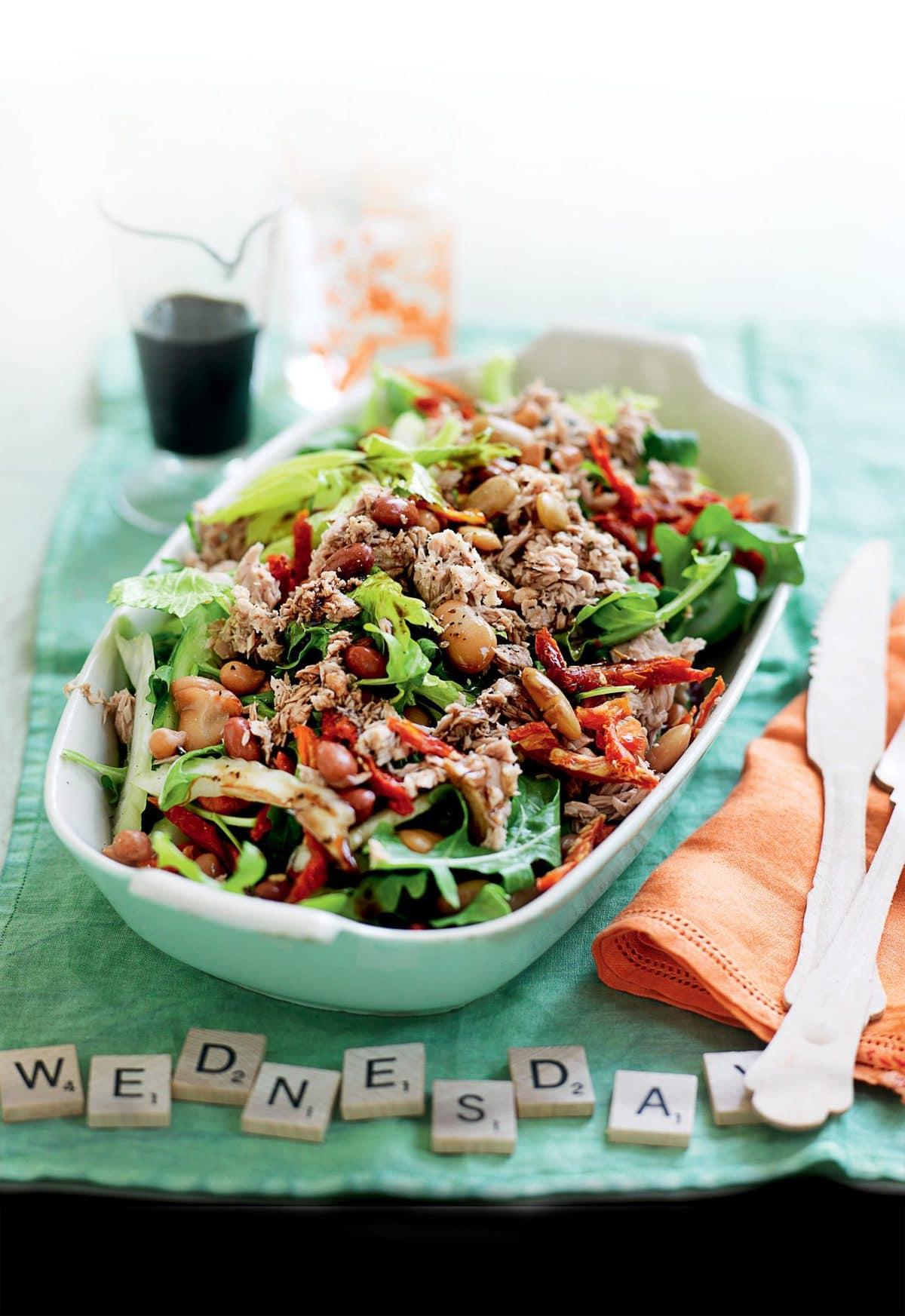 Mixed bean and tuna salad