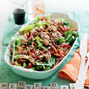 Mixed bean and tuna salad