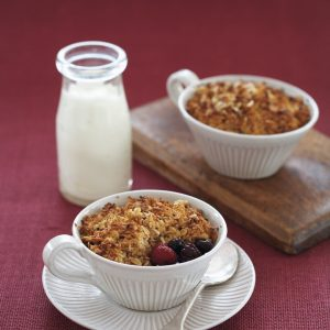 Mixed berry and coconut crumble