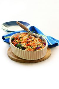 Mixed vegetable lentil bake