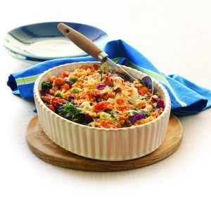 Mixed vegetable lentil bake